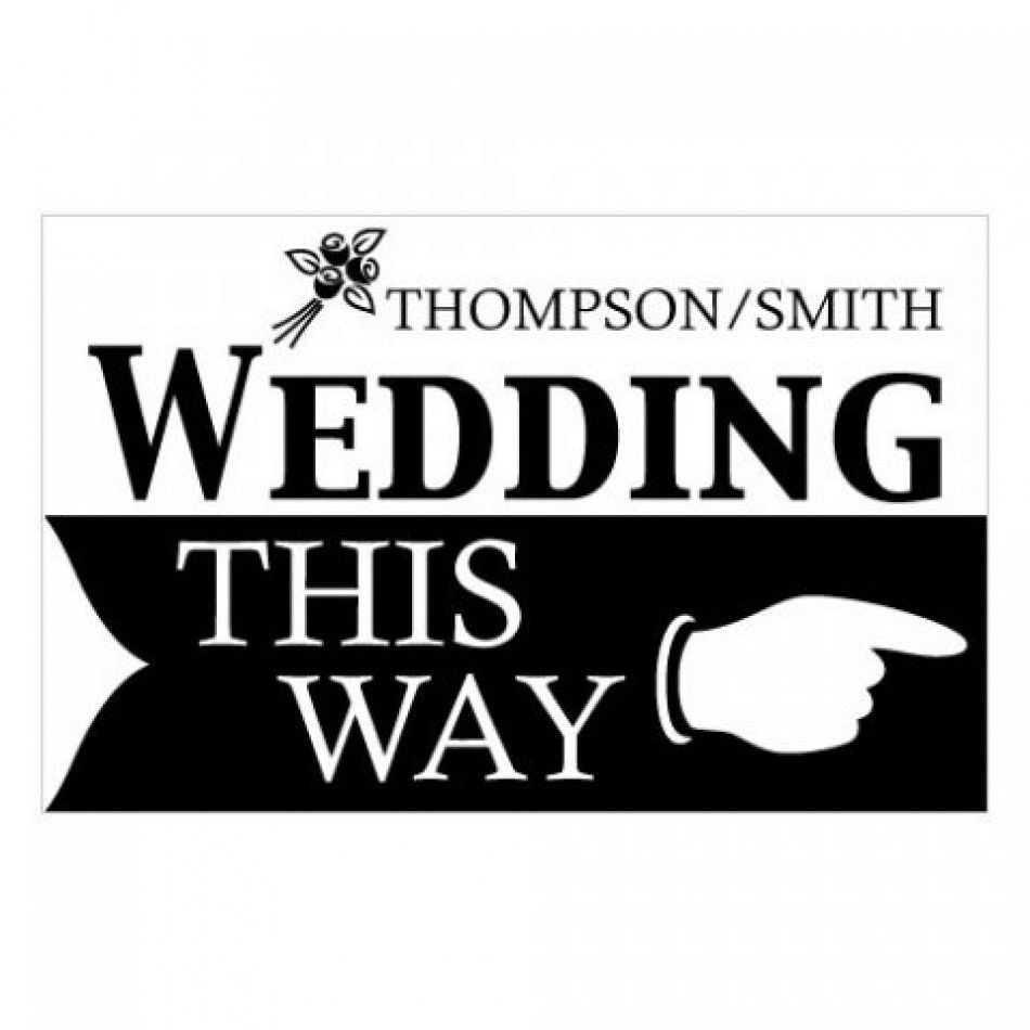 Personalized Wedding This Way Wedding Directional Sign (6 Colors ...