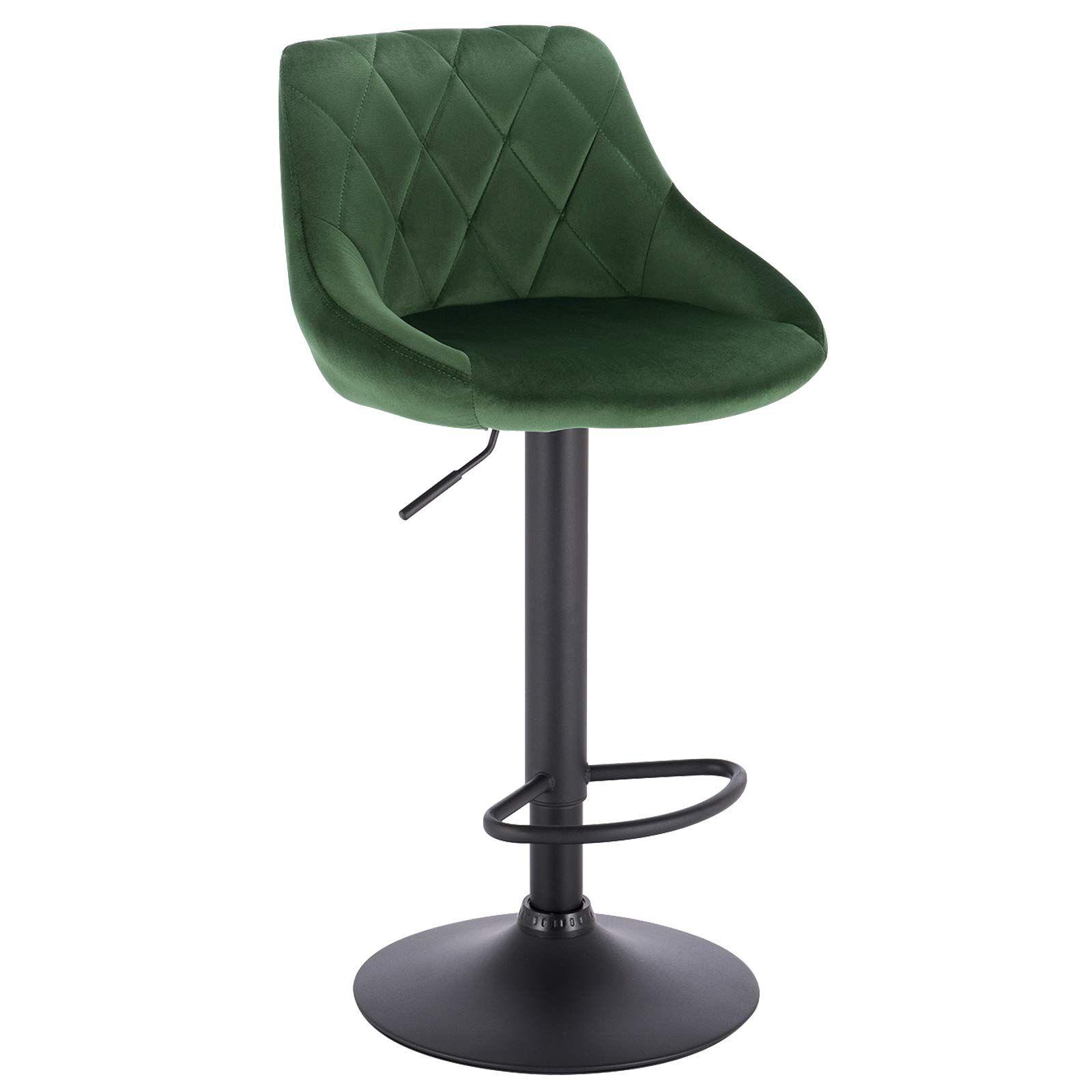 woltu bar stool dark green bar chair breakfast dining