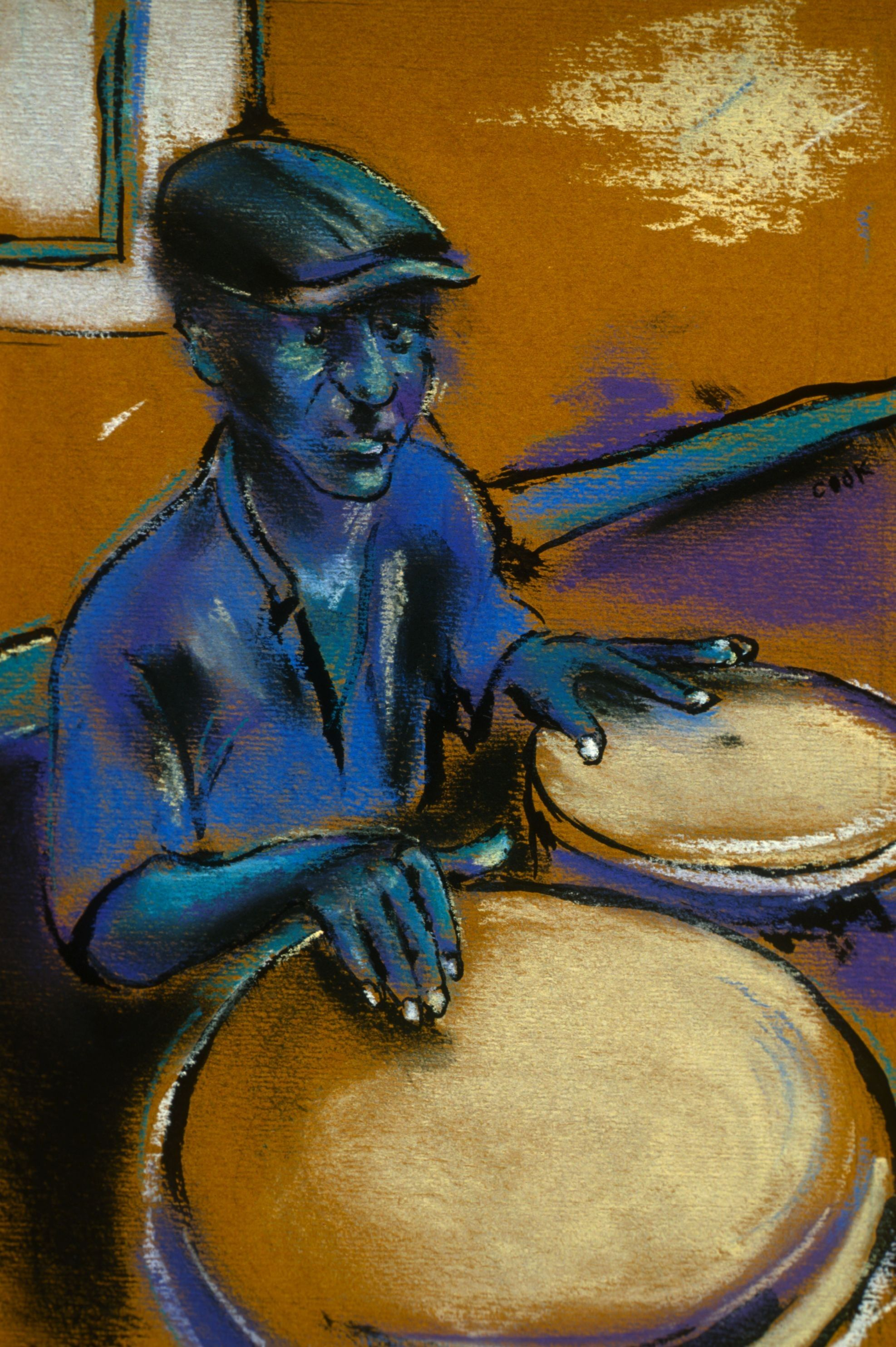 The Bongo Player Funky Art Drums Art Musical Art
