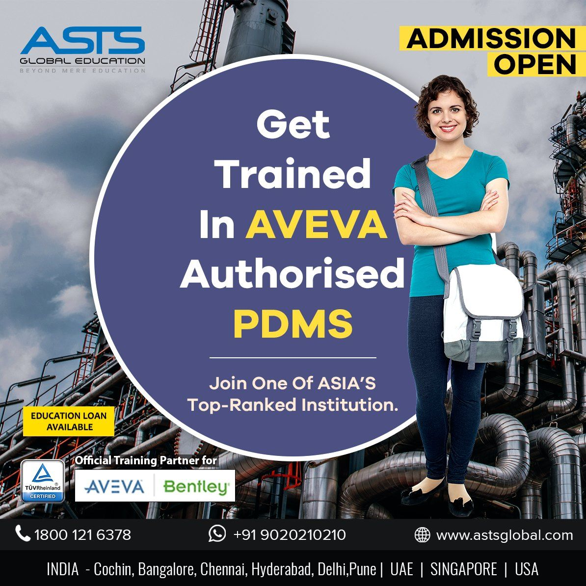 Get trained in Aveva authorised PDMS at ASTS Global