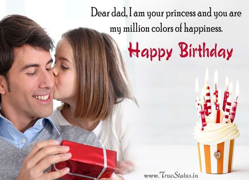 Happy Birthday Quotes For Dad From Daughter Son Happy Birthday