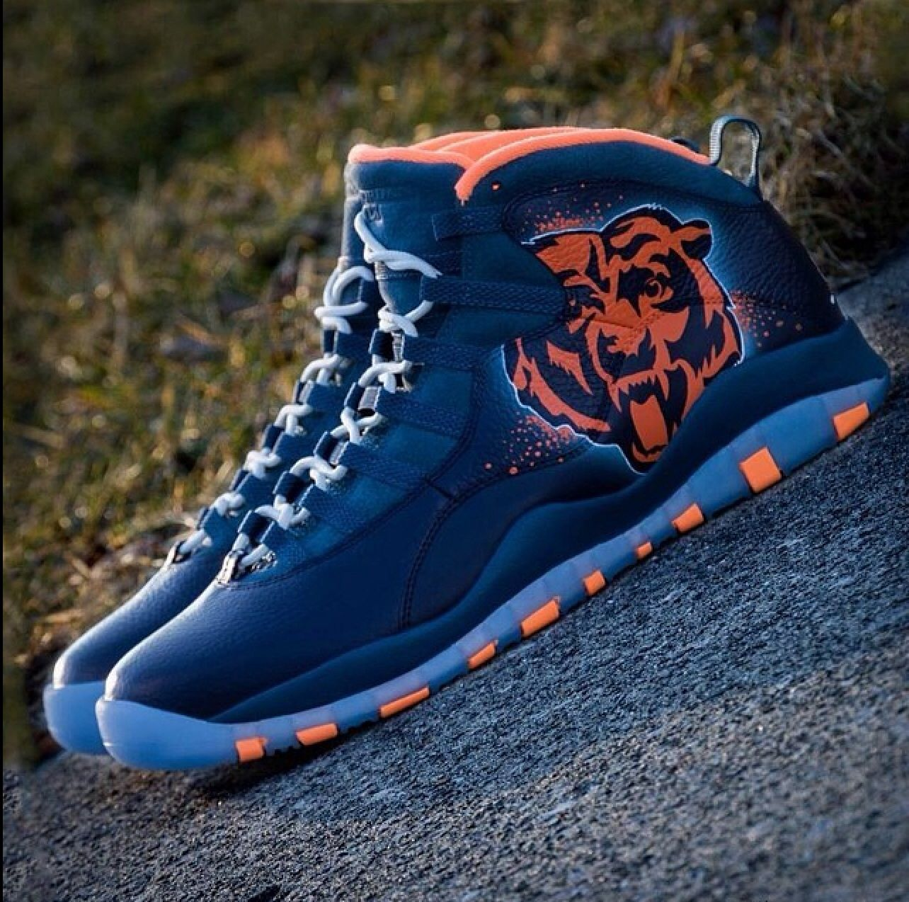 Chicago Bears colorwave Jordans for all you Bears fans out there.