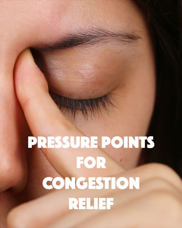 Stuffy nose? Maybe even a headache? Try these eight pressure points to help relieve your congestion!