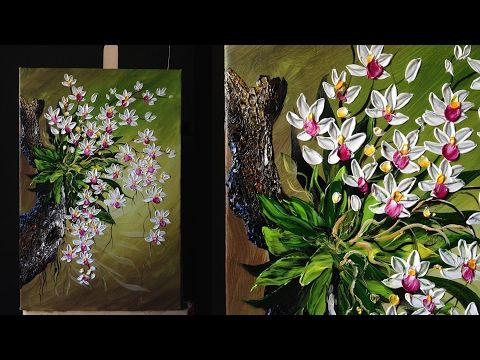 Autum sunflower step by step acrylic painting on canvas for Painting flowers in acrylic step by step