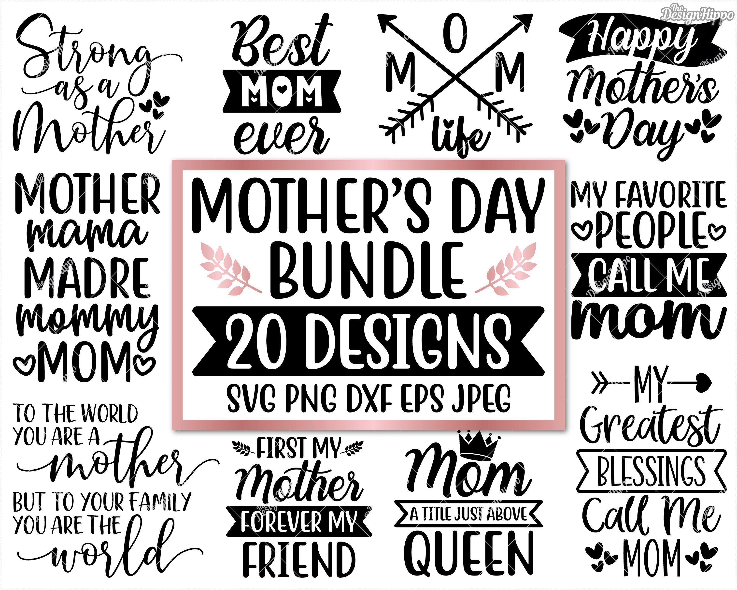 Free Svg, dxf, png and eps for cutting machines such as silhouette cameo or cricuttip: Mom Svg Bundle Mom Life Svg Quotes Sayings Gift Sign Etsy Mom Quotes Svg Quotes Mom Life SVG, PNG, EPS, DXF File