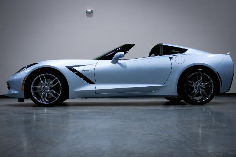 2017 Sterling Blue Chevy Corvette Coupe In 2020 Chevy Corvette For Sale Corvette Used Corvette