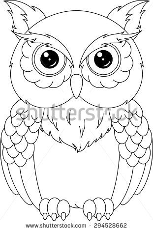 owl owl coloring page