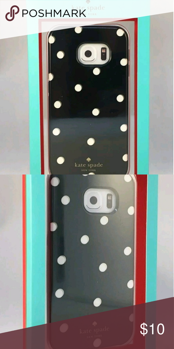 Kate Spade Hybrid Case for Samsung Galaxy s6 edge NEW Kate Spade New York Hybrid Case for Samsung Galaxy S6 edge Dots/ Black  Make:?KATE SPADE NEW YORK?Model:?KSSA-014-S?SKU:4518148-1    Includes:  Case, Original box?  Description  Compatible with Samsung Galaxy S6 edge cell phones For a precise fit. Hard shell construction with a removable rubberized bumper Helps absorb shock from drops for reliable defense against dents and other accidental damage. Glossy finish Provides a sleek, stylish…