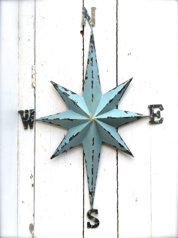 Nautical Wall Art Metal Compass Wall Art Nautical By Honeywoodhome
