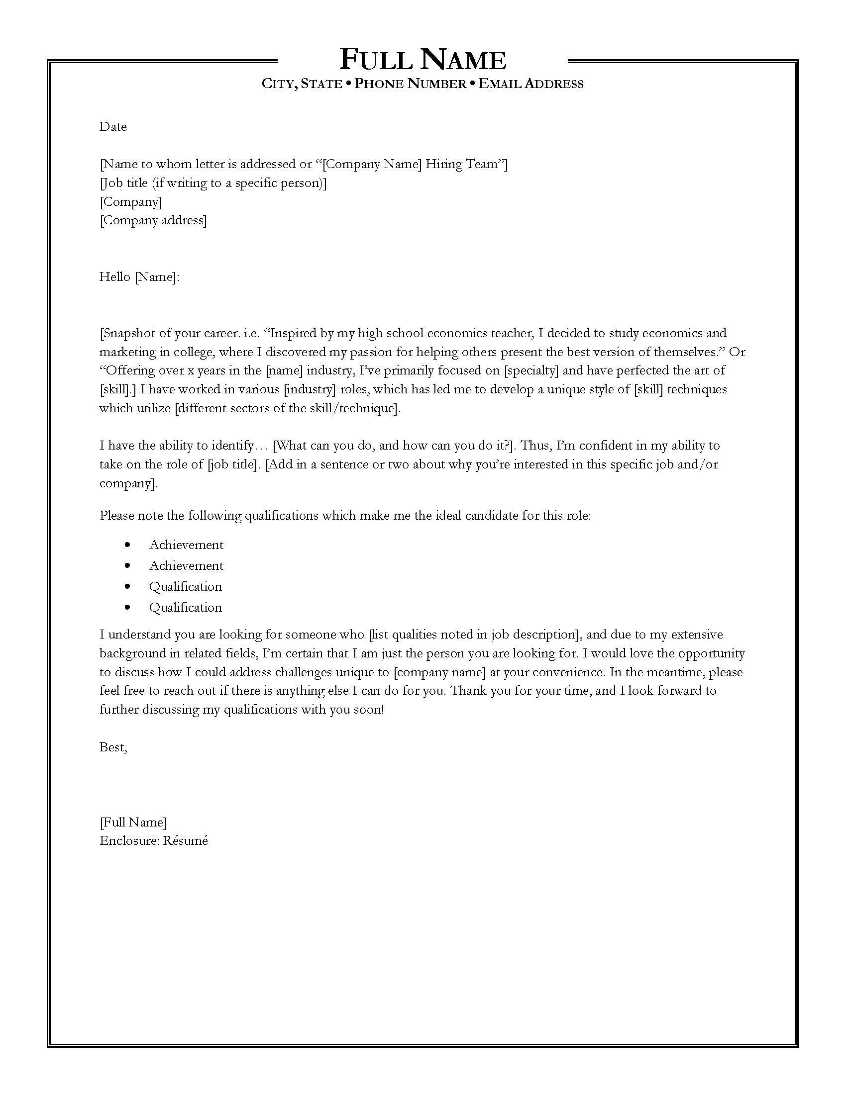 Writing the Perfect Cover Letter Perfect cover letter