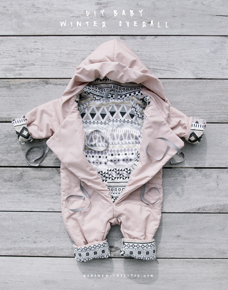 167691aea No Home Without You DIY baby winter overall jump suit