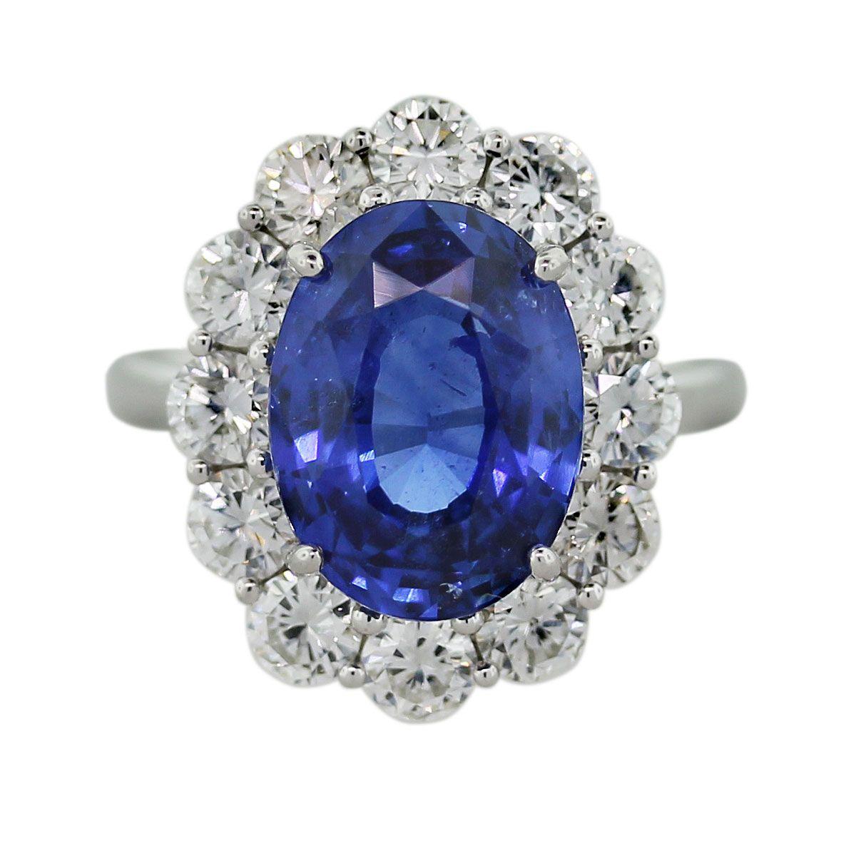 Blue Sapphire Diamond Platinum Cocktail Ring Boca Raton Platinum Engagement Rings Blue Sapphire Diamond Engagement Rings Sapphire