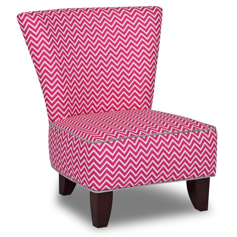 Marvelous Totally Tween Armless Chair   Cosmo Candy Pink With Pebbles Accents    3075CCPPEB