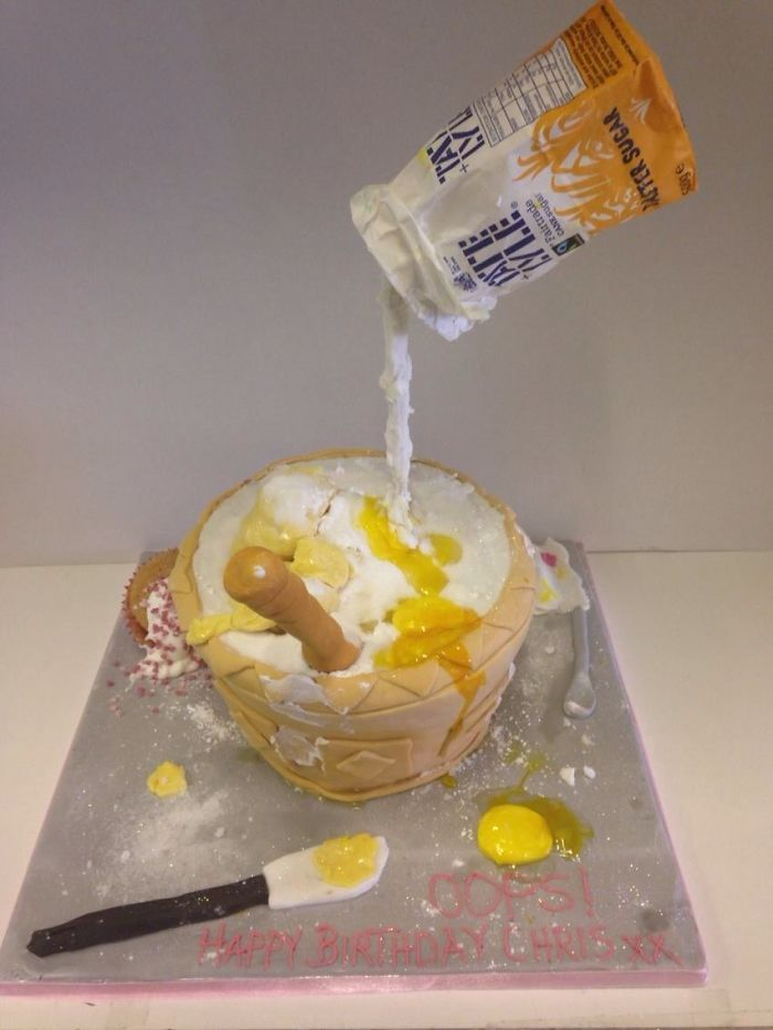 Mixing Bowl Gravity Cake