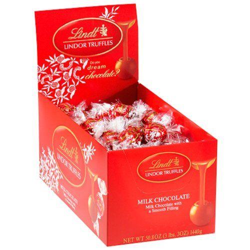 Lindt LINDOR Milk Chocolate Truffles ,120 Count Box - http://bestchocolateshop.com/lindt-lindor-milk-chocolate-truffles-120-count-box/
