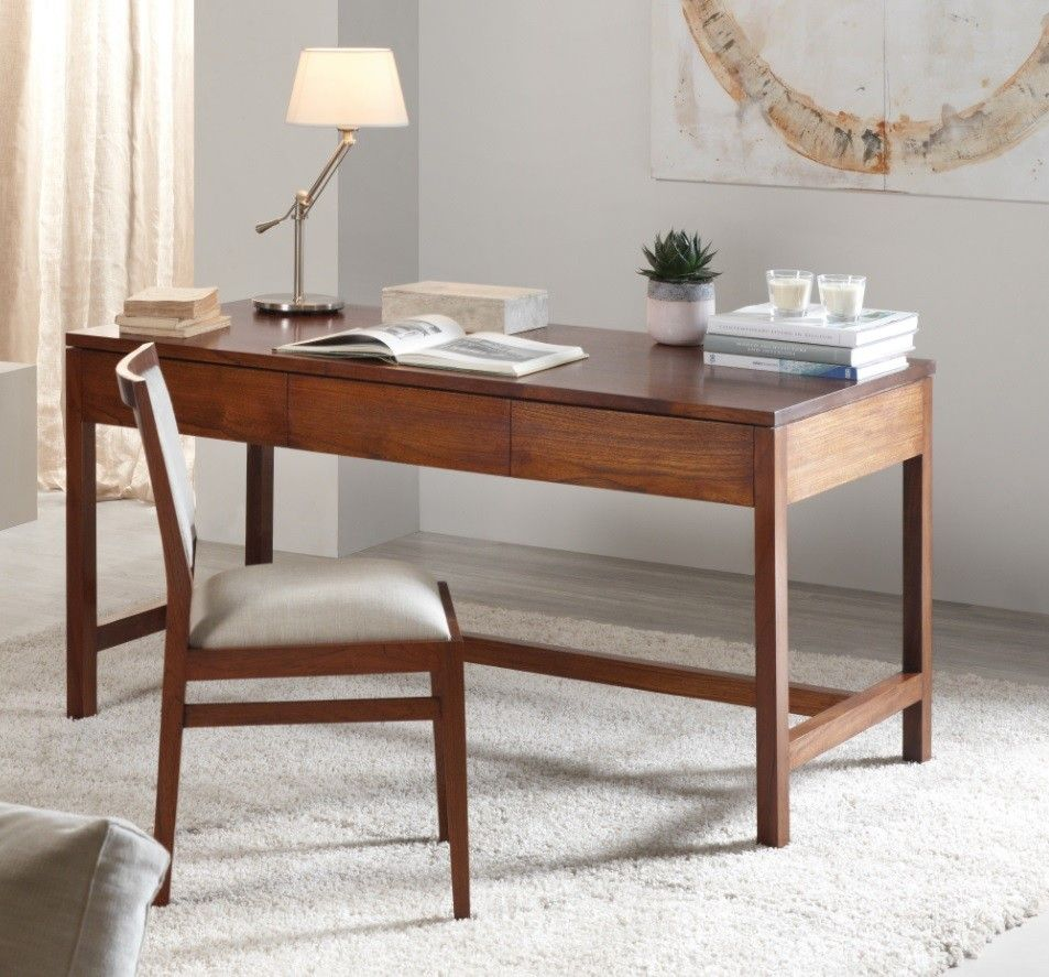 Mesa escritorio colonial halahan ambar muebles deco - Mesa escritorio colonial ...