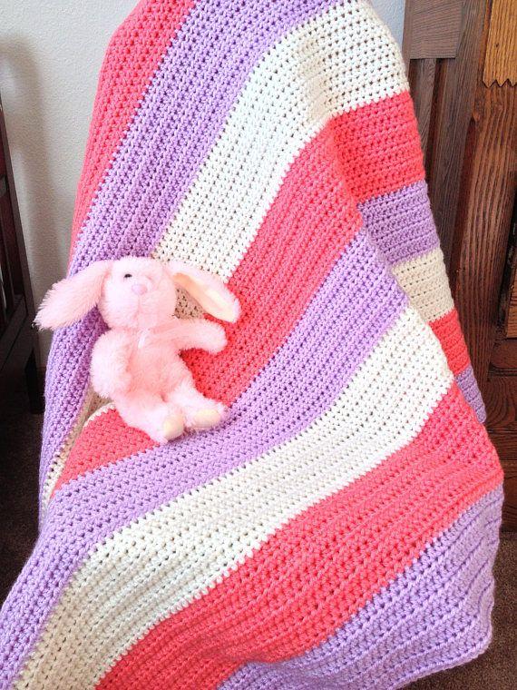 Berries Cream Baby Blanket Pattern Only
