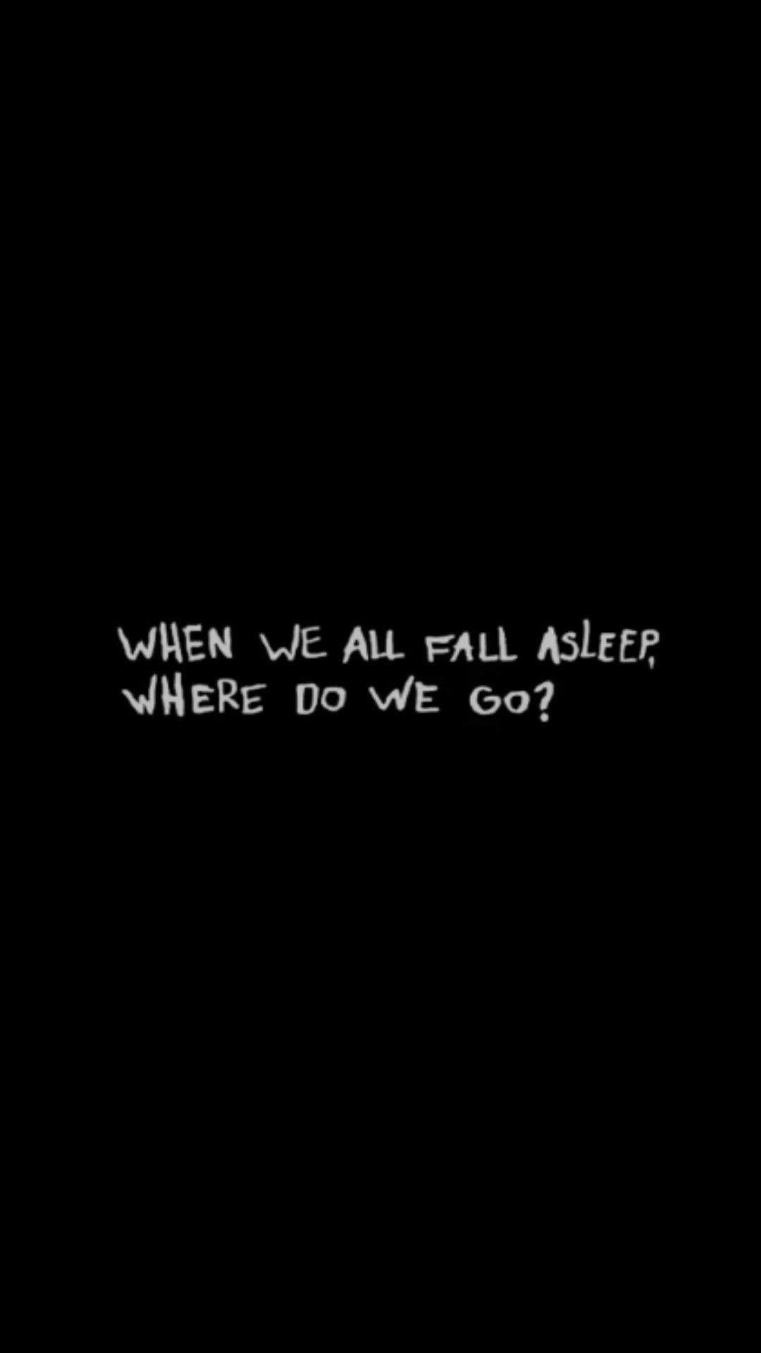When We All Fall Asleep Where Do We Go Billie Eilish With