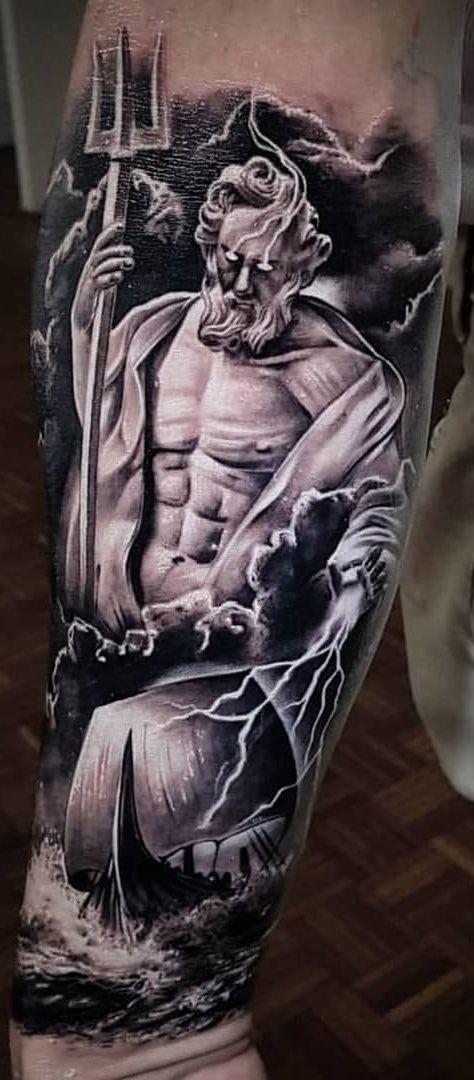 Pin By Eragon Jackson On Tatts Mythology Tattoos Poseidon