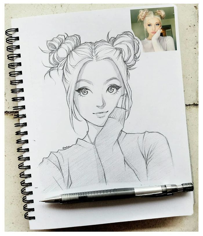 This Illustrator Sketches People As Anime Character And The Result Is Impressive