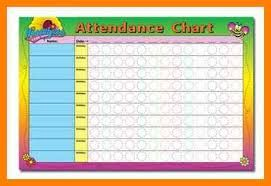 photograph relating to Printable Attendance Chart called Impression outcome for sunday faculty attendance chart no cost