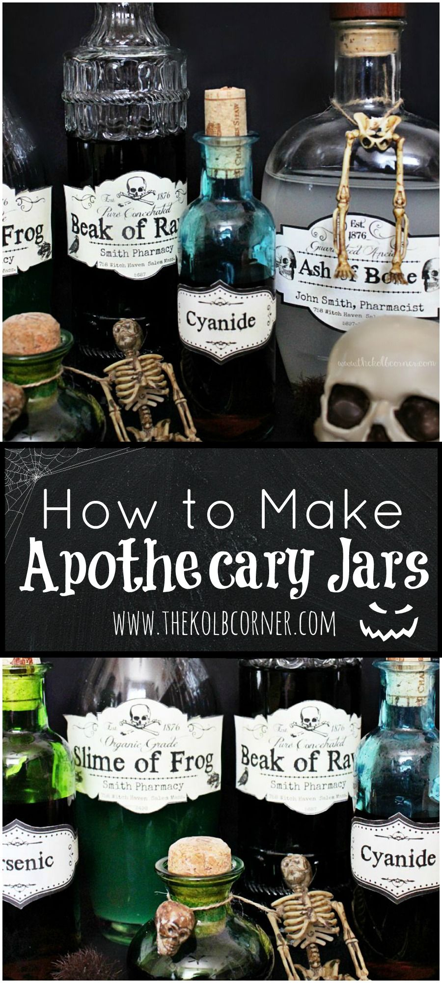 how to make apothecary jars and free printable labels  con