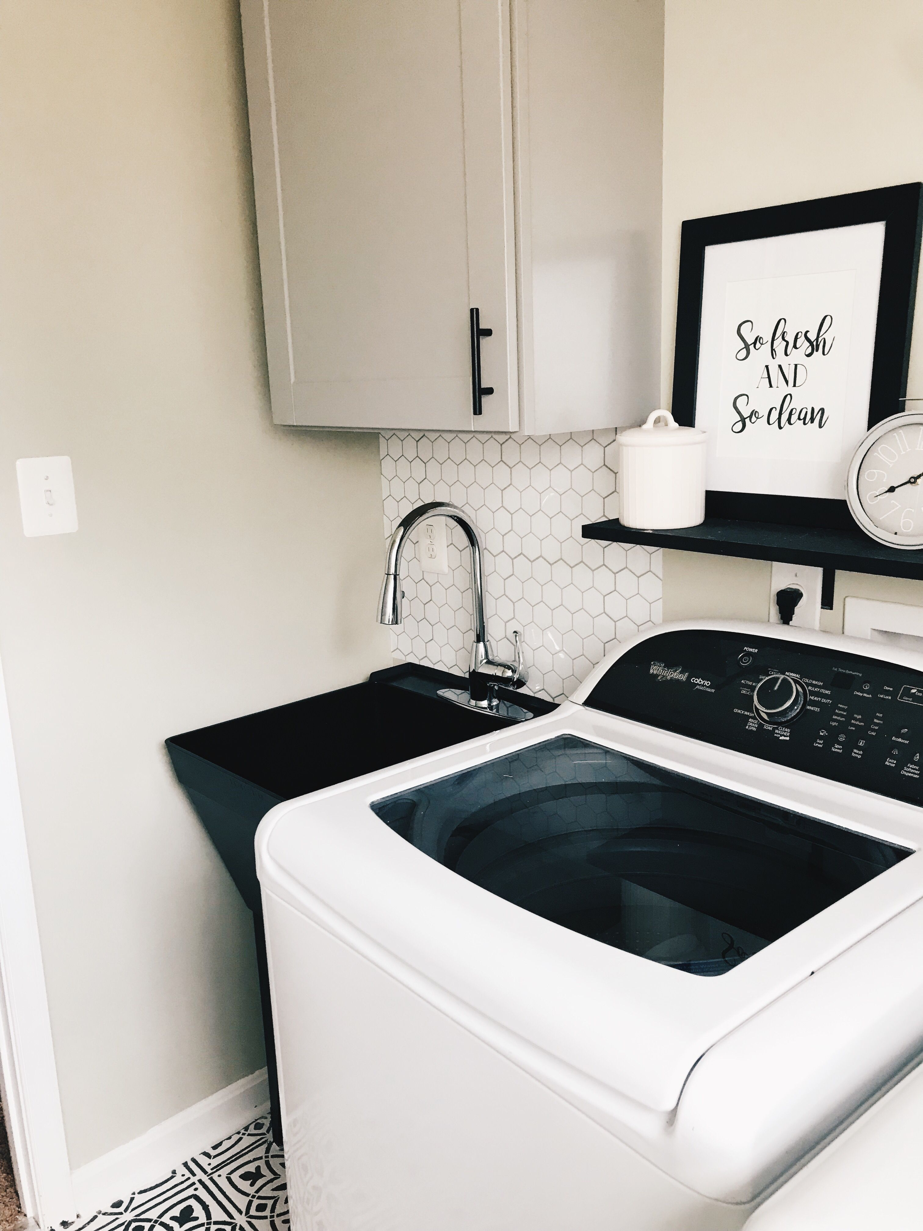 I Painted Our White Laundry Sink Black Laundry Room Sink