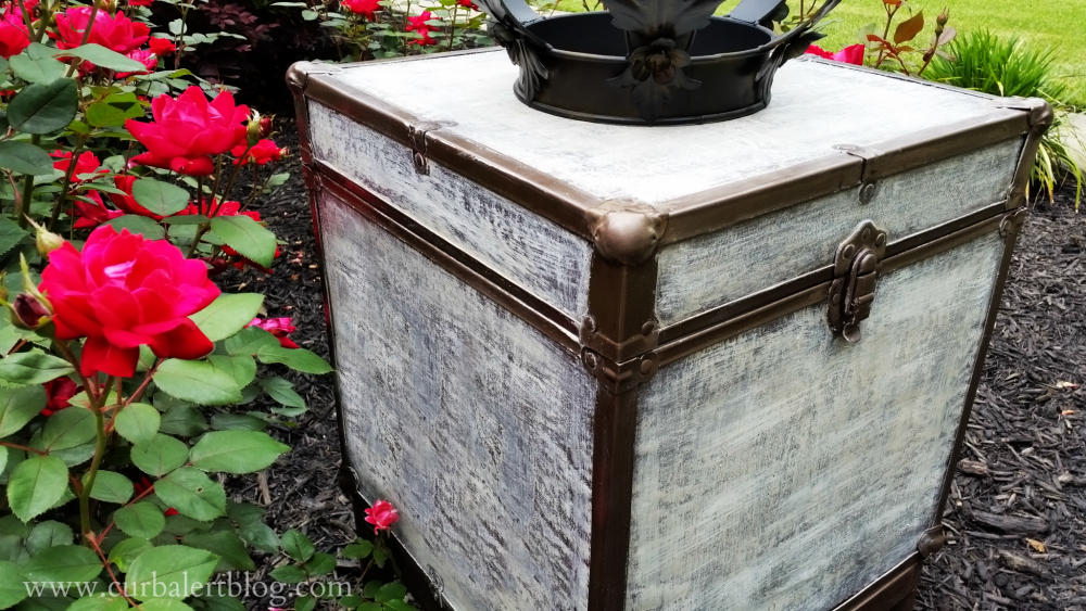 Curb Alert Pottery Barn Inspired Trunk Side Table Repurpose - Pottery barn trunk side table