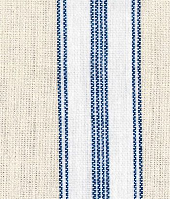 French Ticking Fabric Reminiscent of vintage French fabric, vertical striping on cotton will add color and texture to your rooms.