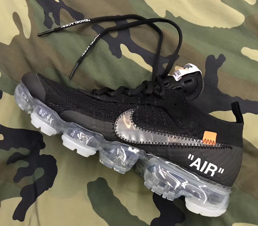 Here's a new look at the Off-White x Nike Air VaporMax in Black that