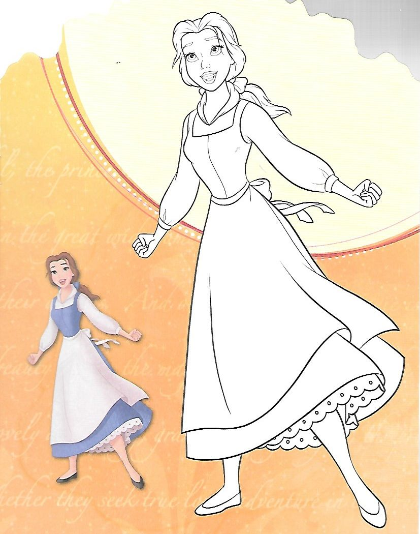 Belle coloring page   Belle 3   Pinterest   Ausmalbilder