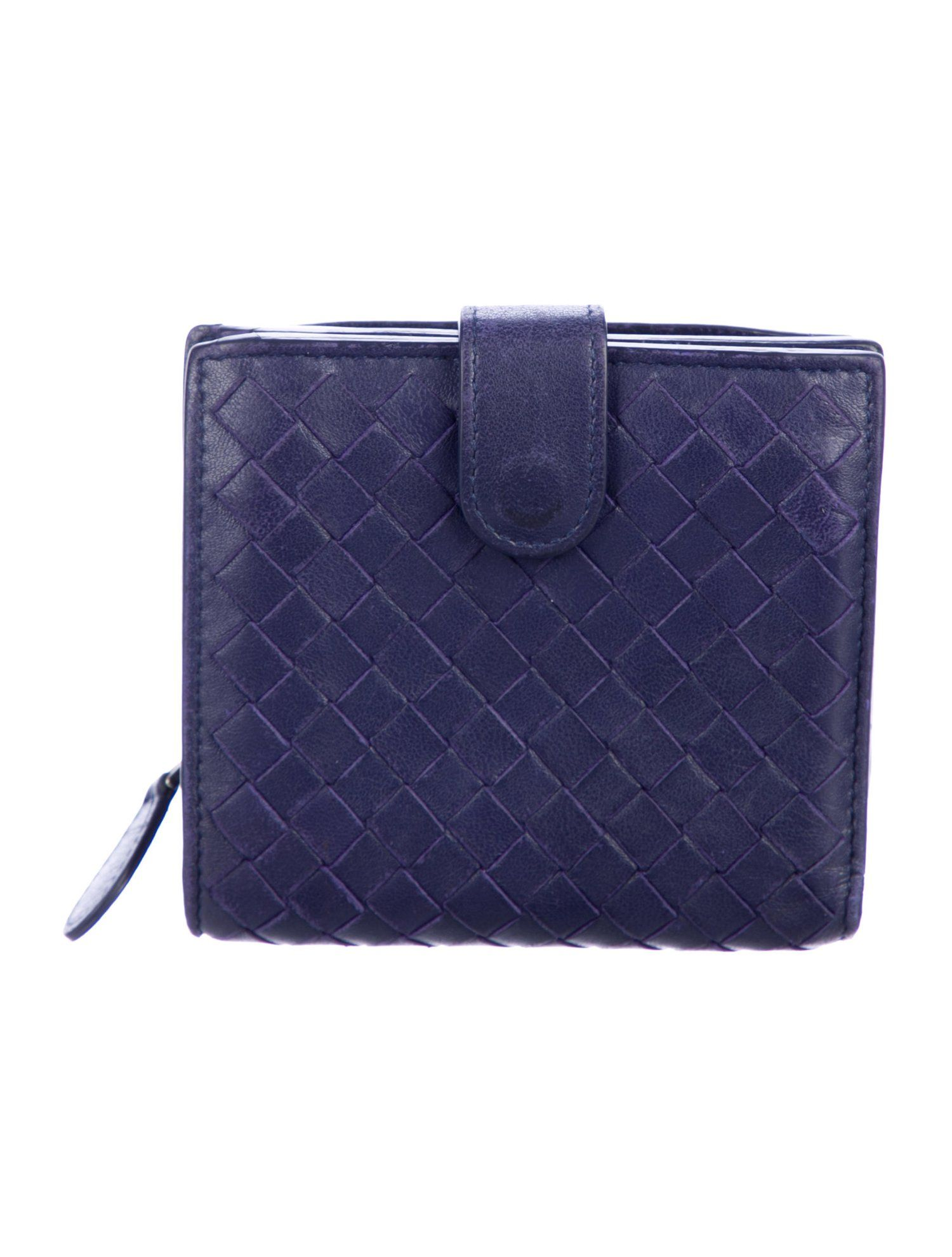 Intrecciato Leather Compact Wallet Compact Wallets Louis Vuitton Bag Neverfull Leather