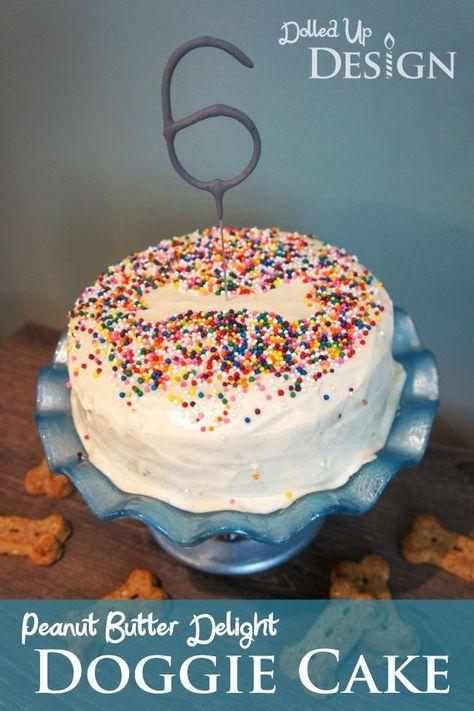 Peanut Butter Delight Doggie Cake
