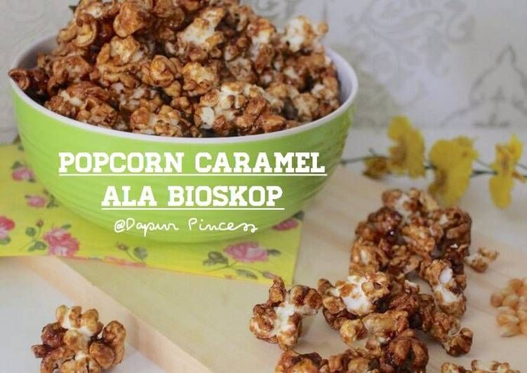 Resep Popcorn Caramel Ala Bioskop Oleh Rindaags Dapurpincess Resep Makanan Karamel Resep