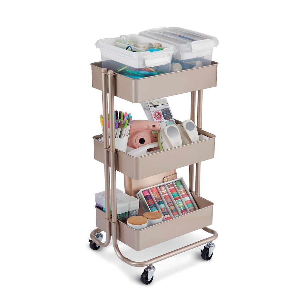 Purchase The Champagne Lexington 3-Tier Rolling Cart By
