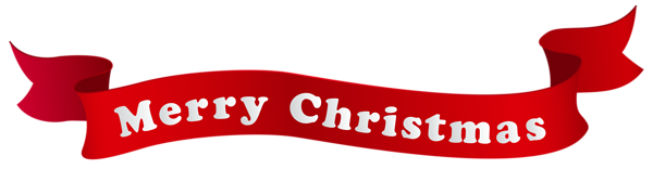 Merry Christmas Banner PNG Clipart Image
