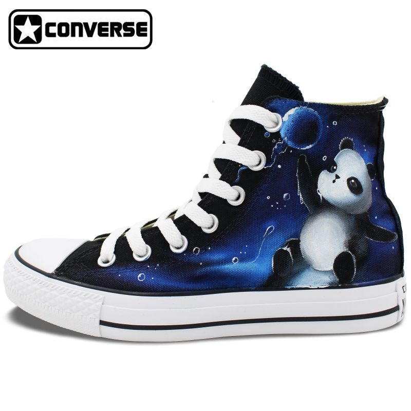 Galaxy Panda Original Design Converse All Star Women Men Shoes Custom Hand  Painted High Top Canvas
