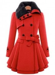 Fashionable&high Quaility Blended  Overcoat With Belt