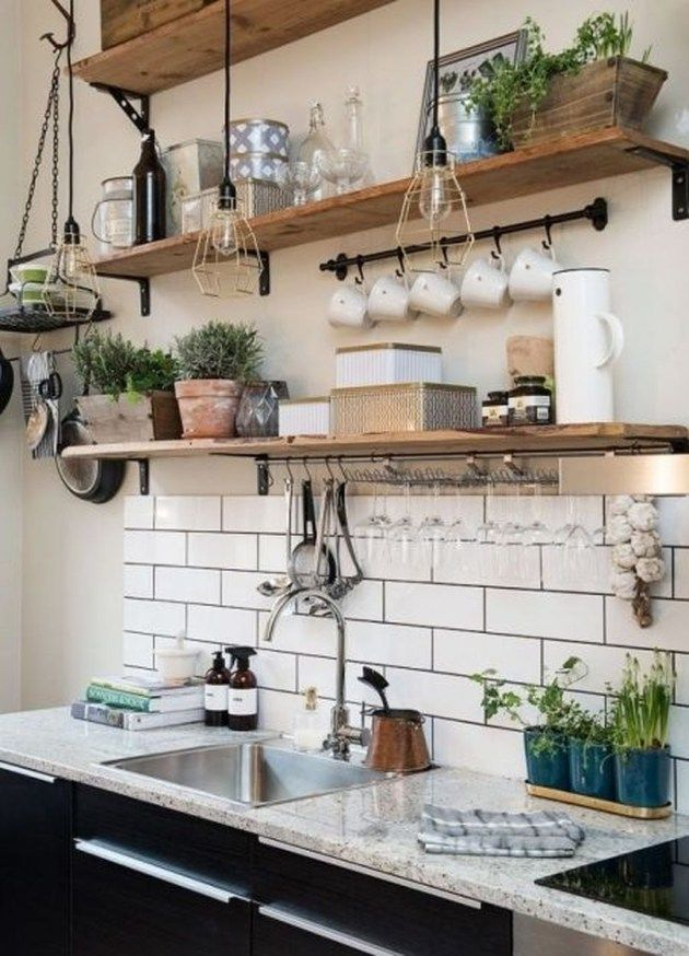 Amazing Rustic Country Kitchen Design Ideas 11 bydlení Pinterest
