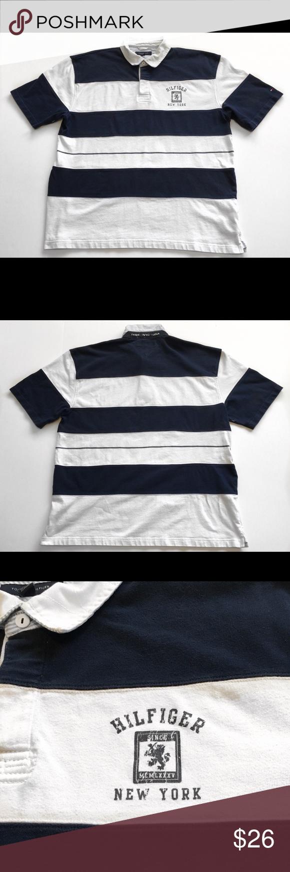 0cb4ae5f Vintage Tommy Hilfiger Rugby Short Sleeve Shirt Awesome Looking Vintage Tommy  Hilfiger Year 2000 Rugby/
