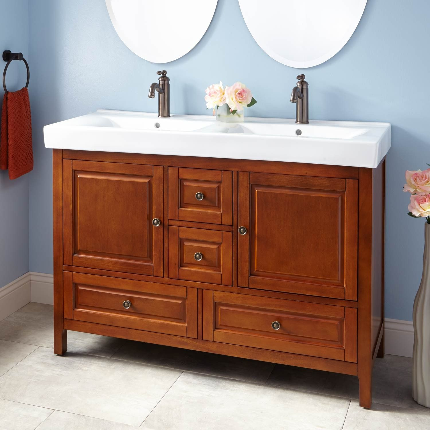 Oxford 48 Double Bathroom Vanity Set With Mirror With Images