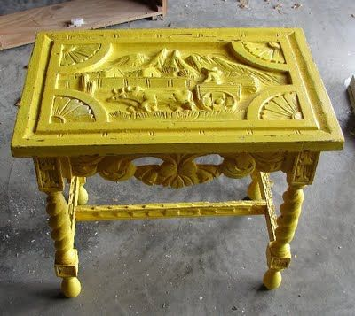 IDEA from Adri - go to thrift/consignment stores for interesting pieces with originality and paint them for POP