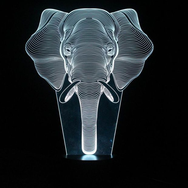 Interesting 3d Illusion Lamp Led Night Lights With Elephant Pattern Table Lamp For Friends Gifts Fs 3222 Elephant Lamp 3d Illusion Lamp Led Night Light