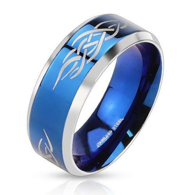 Blue Tribal Shaman By Steel Get Here BuyBlueSteel Ring TribalDesign Men
