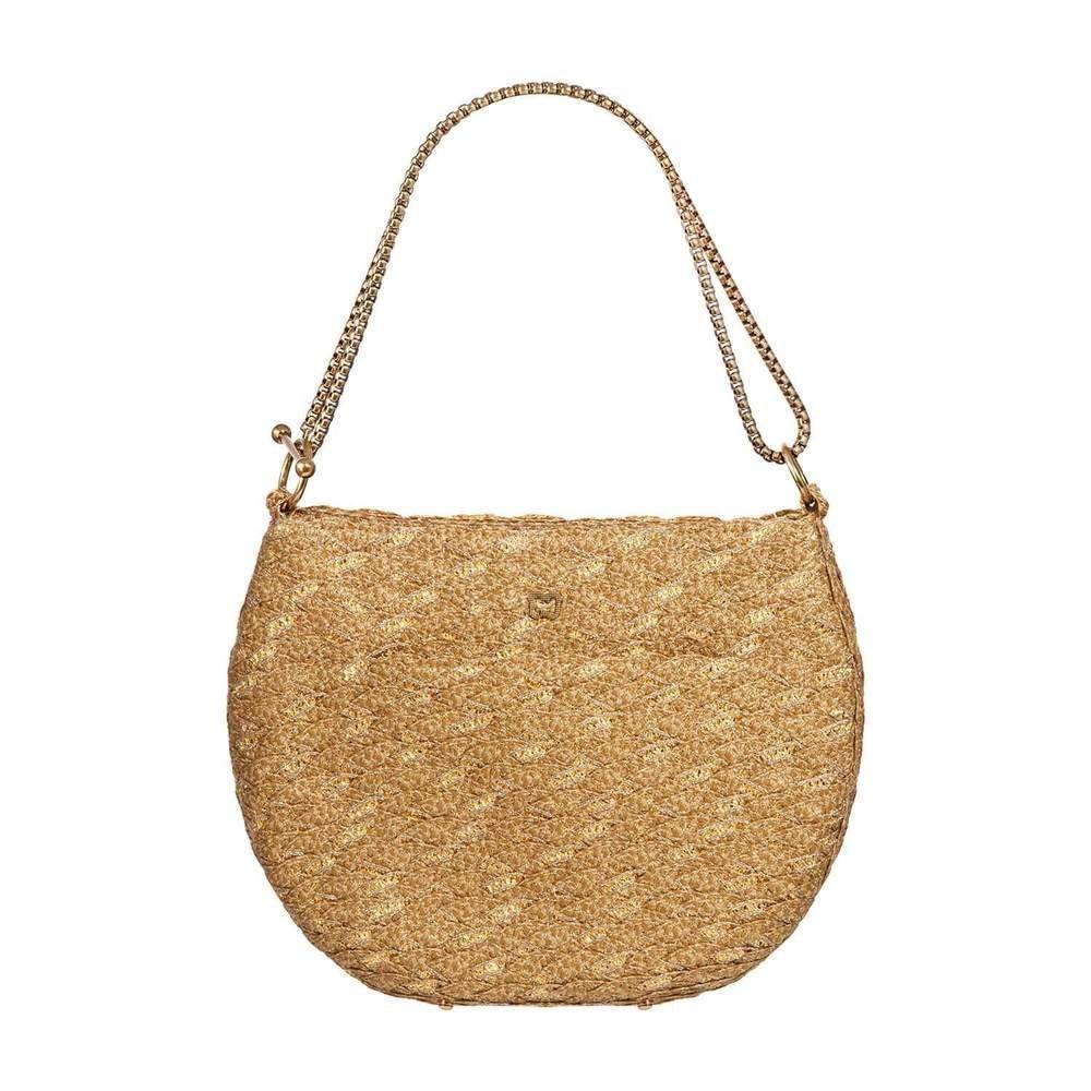 472adc7bf6d140 Eric Javits Luxury Fashion Designer Women's Handbag - Ayesha - Natural/Gold