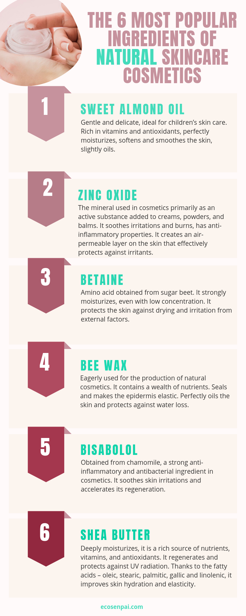 Environment Friendly Products Ideas Of 6 Popular Ingredients Of Natural Skincare Cosmetics For You Cosmetic Skin Care Natural Skin Care Kids Skin Care