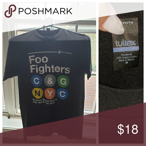 Foo Fighters Tee Concrete And Gold Nyc Pop Up Shop Subway