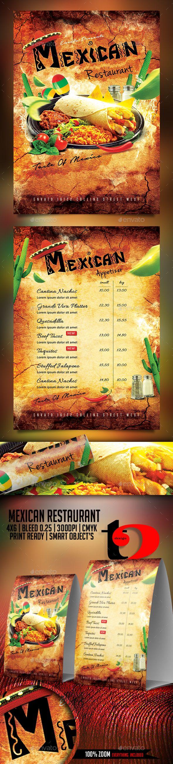 Mexican Restaurant Flyer Template | Restaurante, Restaurantes ...
