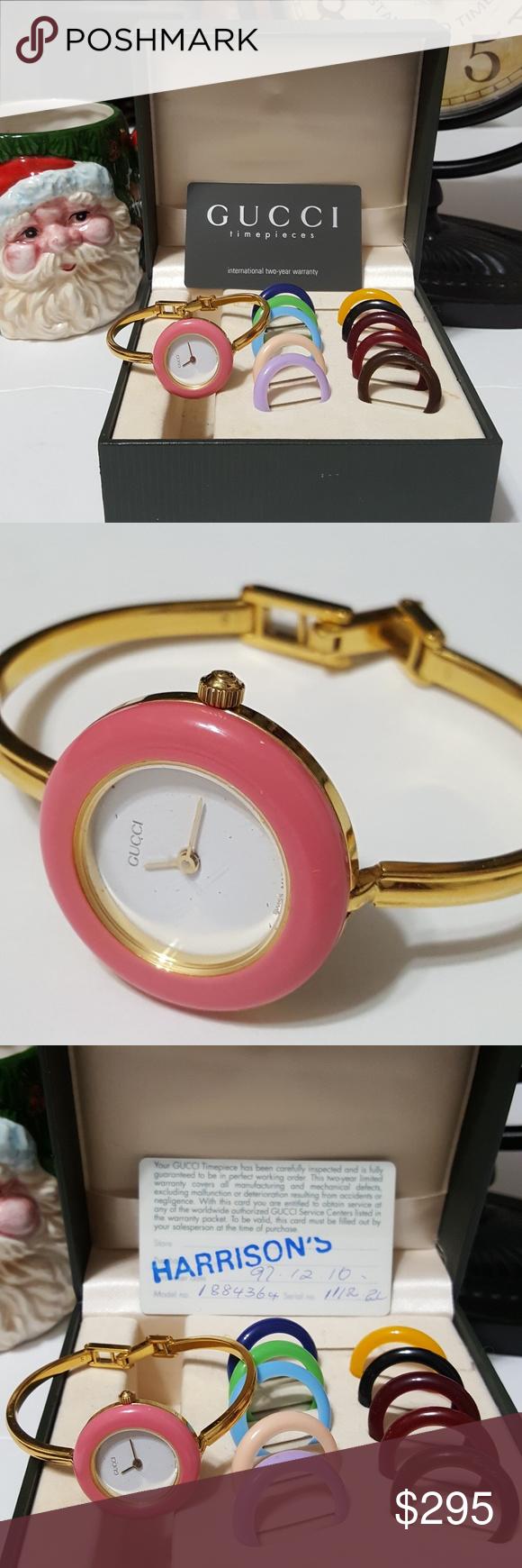 4919d29e18832 Authentic Gucci 1100-L Bezel Women s Watch