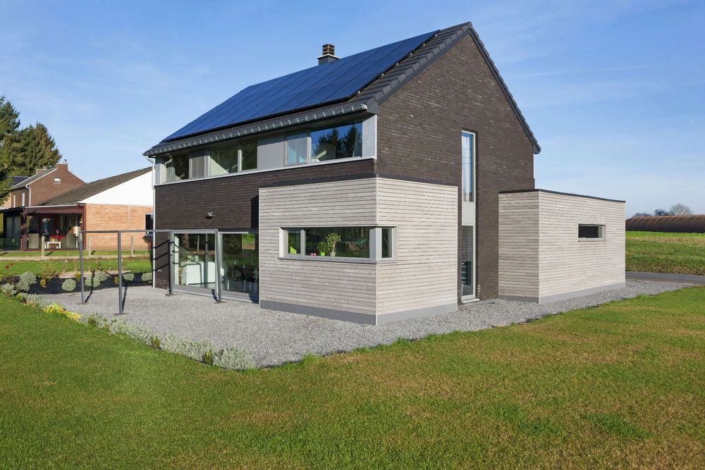 Maison bois contemporaine - Architect: Séverine Bouchat - Huy ...